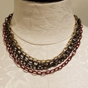 LIZ CLAIBORNE multi link necklace